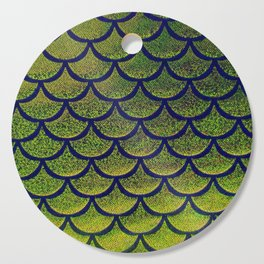 Chartreuse Cobalt Scales Cutting Board