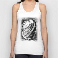 snail Tank Tops featuring Snail by MARIA BOZINA - PRINT