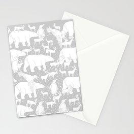 Polar gathering (latte) Stationery Cards