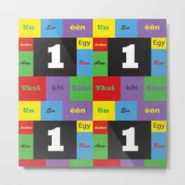 Number One Colorful Many Languages Metal Print