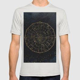 Golden Star Map T-shirt