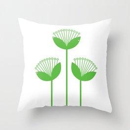 New folk green creative Flower Throw Pillow
