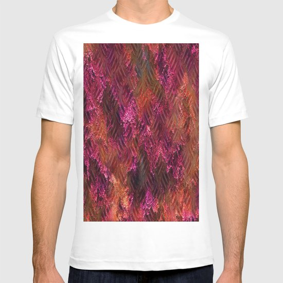 Imprinted Shocking Pink Metal Look T-shirt