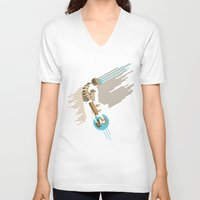 engineer V-neck T-shirts featuring The Engineer by Florey