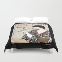 conan Duvet Covers featuring Three Pipe Problem by KARADIN
