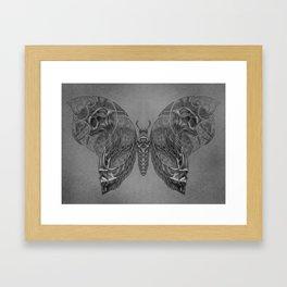 Butterfly skulls 2 Framed Art Print