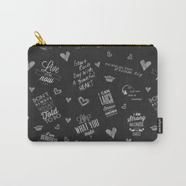 Chalkboard Theme Inspirational Words to Live By Carry-All Pouch