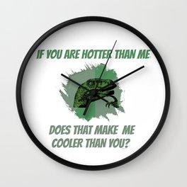 Cooler than Hot Wall Clock