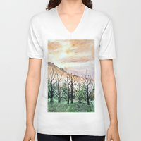 water color V-neck T-shirts featuring Water Color by Anna Hanse