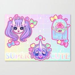 SUPER CUTE MONSTER GALS Canvas Print
