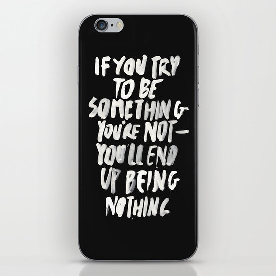 Being Nothing iPhone & iPod Skin