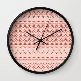 Northern Knit Wall Clock