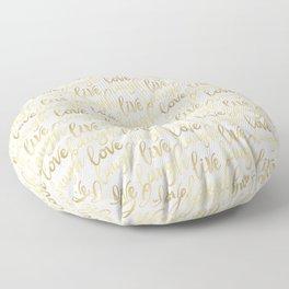Live Laugh Love II Floor Pillow