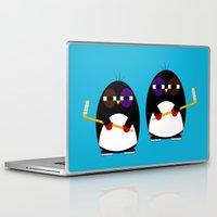 hockey Laptop & iPad Skins featuring Hockey penguin by Jaxxx