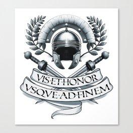 Gladiator Centurion Spartan Legionair T Canvas Print