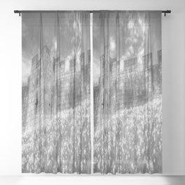 York City Walls Infrared  Sheer Curtain