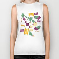 vegetables Biker Tanks featuring Root Vegetables by Lucilight
