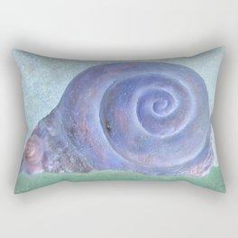 Moon Snail Aglow Rectangular Pillow