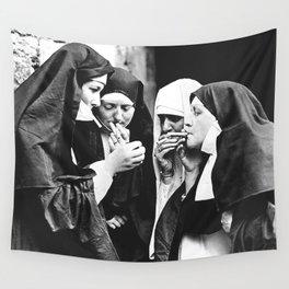 Smoking Nuns Wall Tapestry