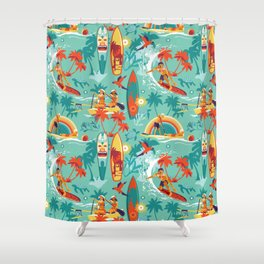 Hawaiian resort Shower Curtain