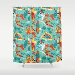 Hawaiian resort Shower Curtain