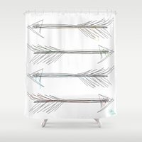 arrow Shower Curtains featuring Arrow by nathan wellman