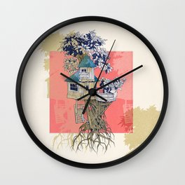 Treehouse colors Wall Clock