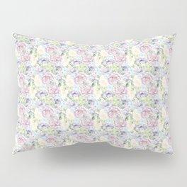 Roses & Forget Me Nots Purple Lace Pillow Sham