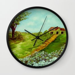 Cotton on a Cloudy Day Wall Clock