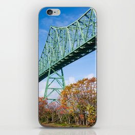 the Mighty Megler Bridge over the Columbia River, Oregon iPhone Skin