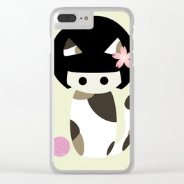Calico Kokeshi Clear iPhone Case