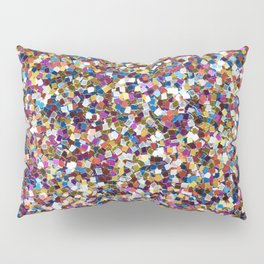 Colorful Rainbow Sequins Pillow Sham