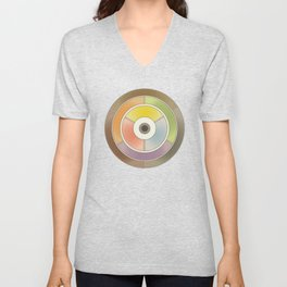 The theory of colouring - Diagram of colour by J. Bacon, 1866, Remake, vintage wash (no text) Unisex V-Neck