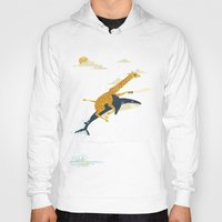 giraffes Hoodies featuring Onward! by Jay Fleck