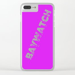 Baywatch Clear iPhone Case
