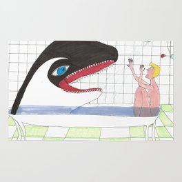 Orca In My Shower Rug