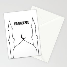 Masjid x Black Stationery Cards