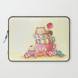 Cups, candy and a cat Laptop Sleeve
