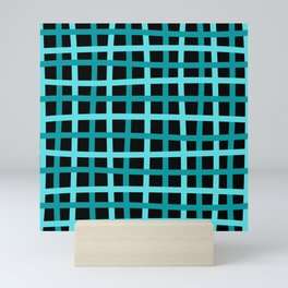 Turquoise pattern Mini Art Print