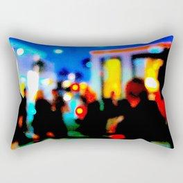 LA at Night Rectangular Pillow