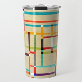 The map (after Mondrian) Travel Mug