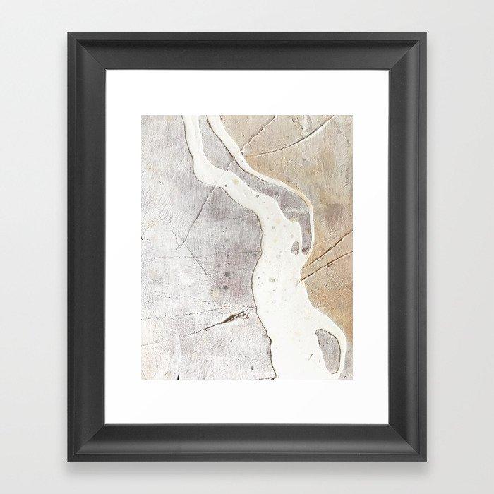 Feels: a neutral, textured, abstract piece in whites by Alyssa Hamilton Art Gerahmter Kunstdruck