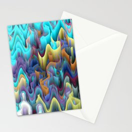 labyrinth mountains Stationery Cards