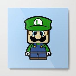 Super Chibi Luigi Metal Print