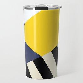 Bold Yellow Memphis Triangle Travel Mug