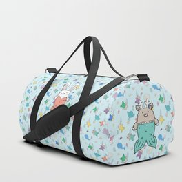 Meranimals and sea friends Duffle Bag