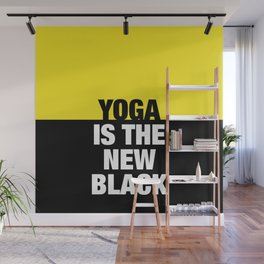 YOGA is the new black Wall Mural
