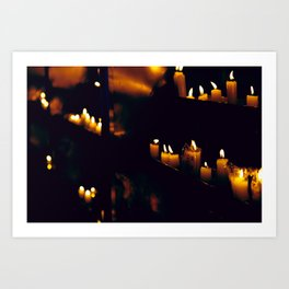 Temple Candles Art Print
