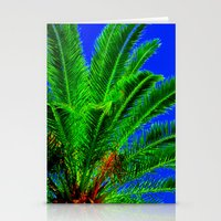palm tree Stationery Cards featuring Palm Tree by Phil Smyth
