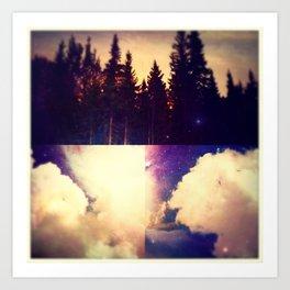 sky forest Art Print